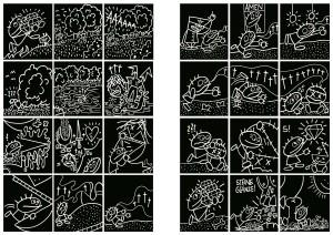 Woyzeck, Tusche auf Papier, Seite 07/08,Comic Programmheft Thalia Theater Hamburg, 2010
